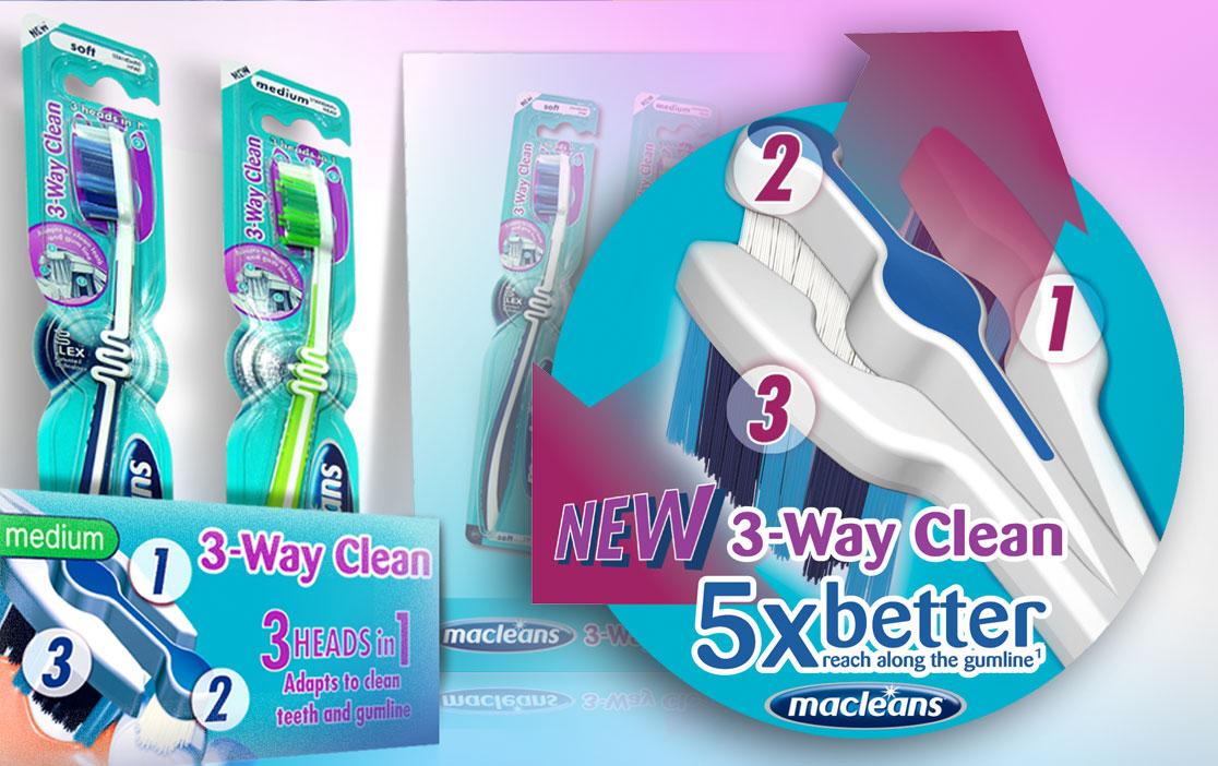 Macleans 3-Way Clean